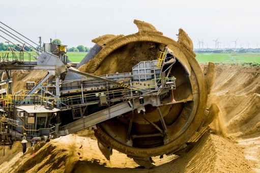 bucket wheel excavators open pit mining brown coal garzweiler
